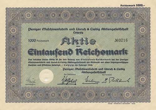 Peniger Maschinenfabrik und Unruh & Liebig