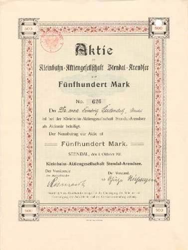 Kleinbahn-AG Stendal-Arendsee