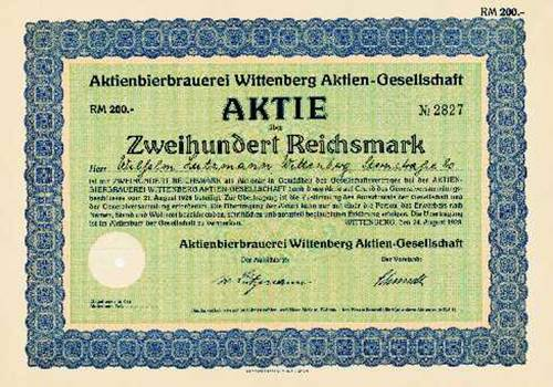 Aktienbierbrauerei Wittenberg