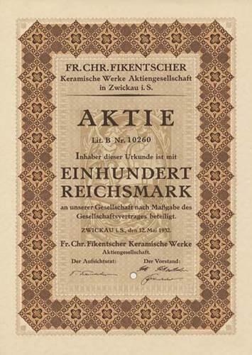 Fr. Chr. Fikentscher Keramische Werke