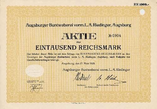 Augsburger Buntweberei vorm. L. A. Riedinger