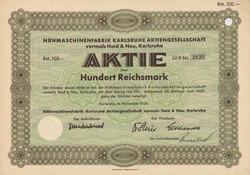 Nähmaschinenfabrik Karlsruhe vormals Haid & Neu