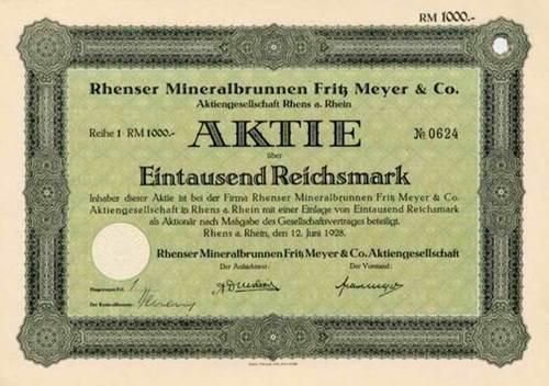 Rhenser Mineralbrunnen Fritz Meyer & Co.