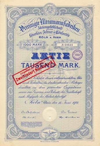 Vereinigte Ultramarinfabriken vormals Leverkus, Zeltner & C.