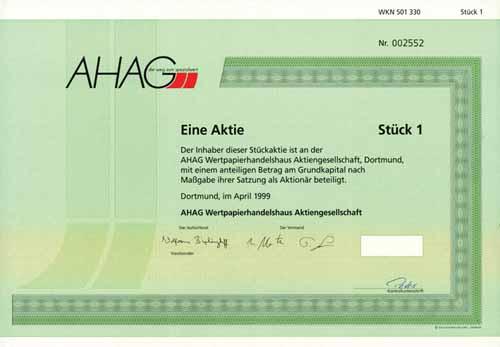 AHAG Wertpapierhandelshaus