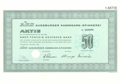 Augsburger Kammgarn-Spinnerei