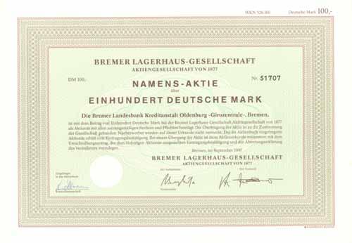 Bremer Lagerhaus-Gesellschaft von 1877