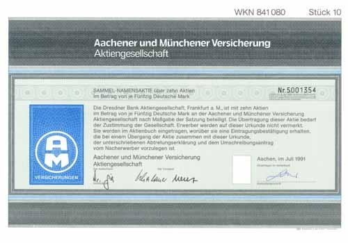 Aachener und Münchener Versicherung