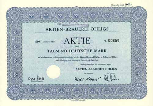 Aktien-Brauerei Ohligs (Aktien-Brauerei Beckmann)
