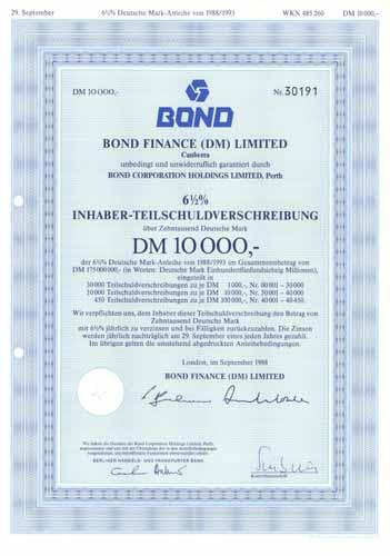 Bond Finance (DM) Limited