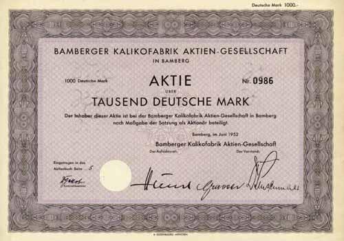 Bamberger Kalikofabrik