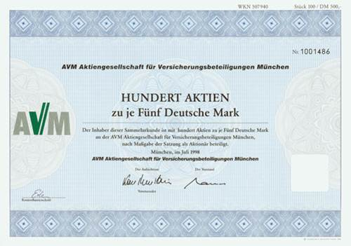 AVM AG für Versicherungsbeteiligungen München
