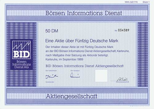BID Börsen Informations Dienst