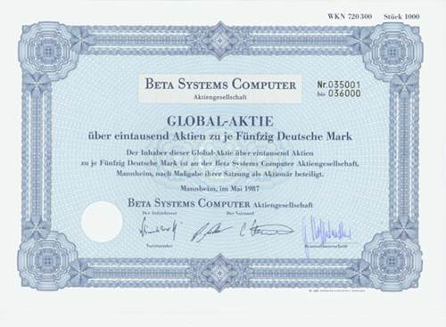 Beta Systems Computer