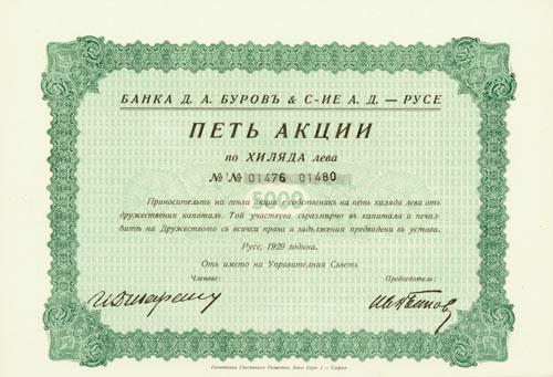 Bank D. A. Burov & Cie. AG