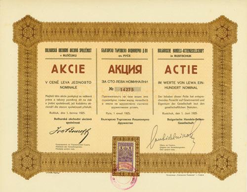 Bulgarische Handels-AG in Rustschuk