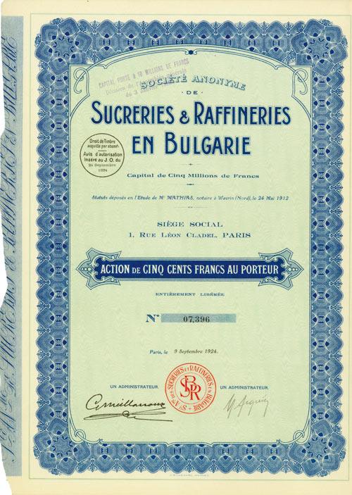 Société Anonyme de Sucreries & Raffineries en Bulgarie