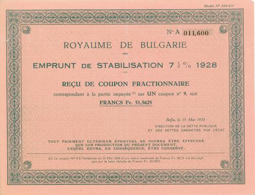 Königreich Bulgarien/Royaume de Bulgarie