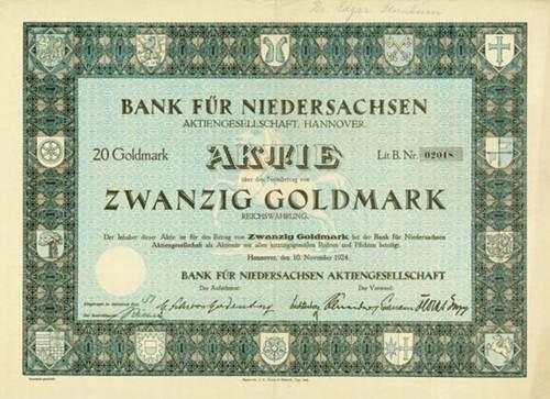 Bank für Niedersachsen