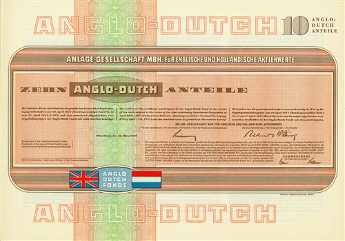 Anlage-Gesellschaft mbH für englische und holländische Aktienwerte