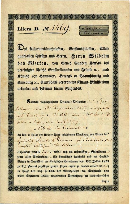 Königlich Großbritannisch-Hannoversches Finanz-Ministerium