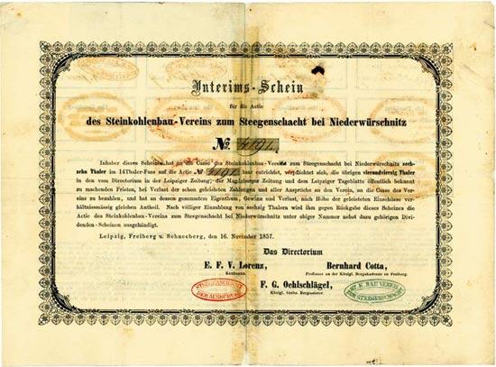Steinkohlenbau-Verein zum Steegenschacht bei Niederwürschnitz