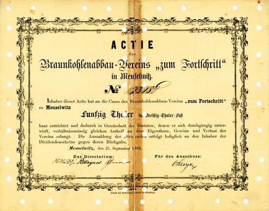 Braunkohlenabbau-Verein zum Fortschritt in Meuselwitz