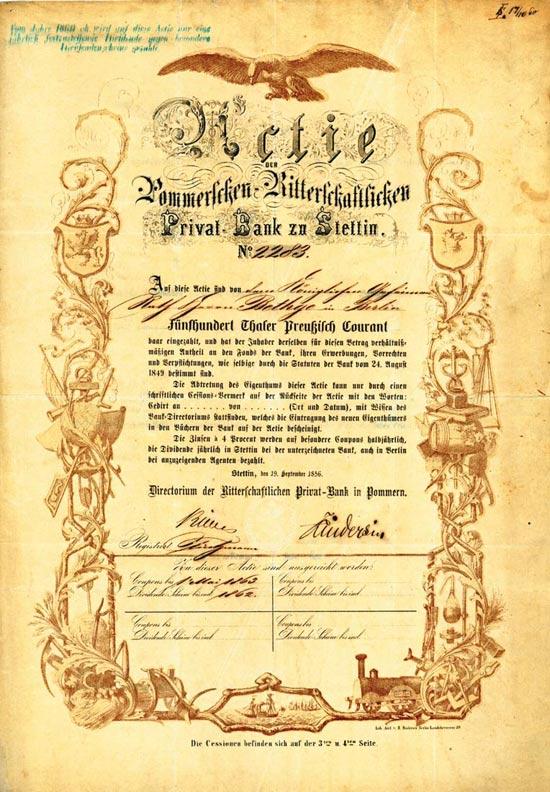 Pommersche-Ritterschaftliche Privat-Bank