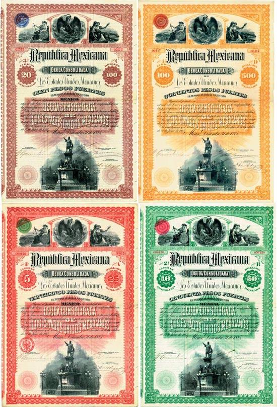 Republica Mexicana [4 Stück]
