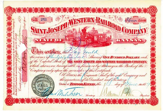 Saint Joseph and Western Railroad Company