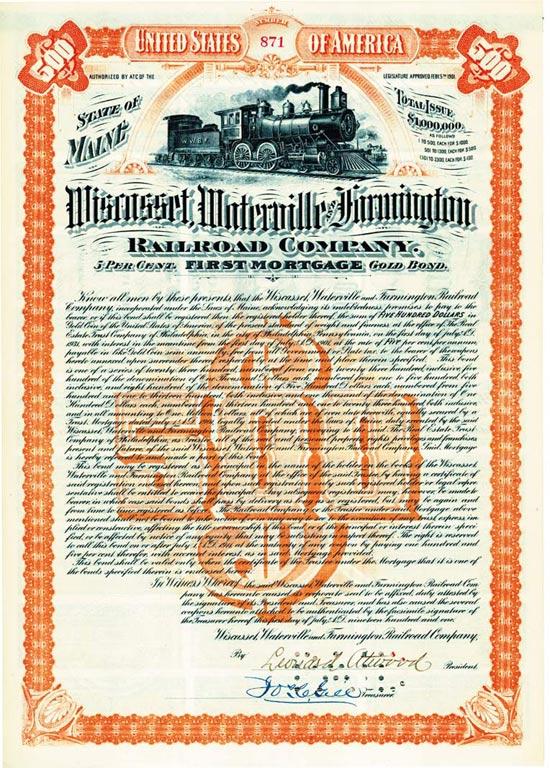 Wiscasset, Waterville & Farmington Railroad Company of Maine