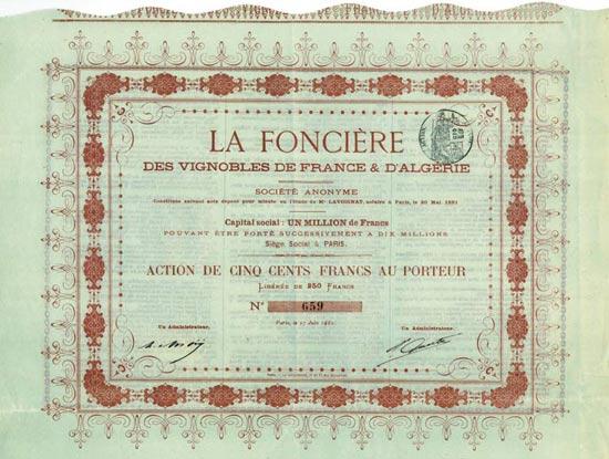 La Foncière des Vignobles de France & d'Algérie