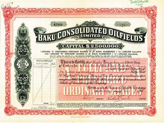 Baku Consolidated Oilfields Limited