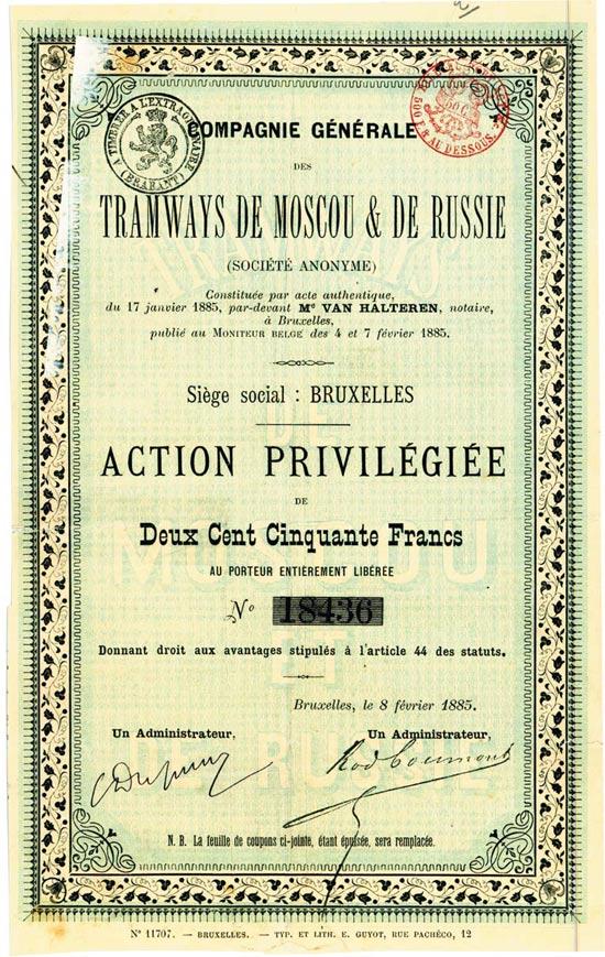 Compagnie Générale des Tramways de Moscou & de Russie (Société Anonyme)