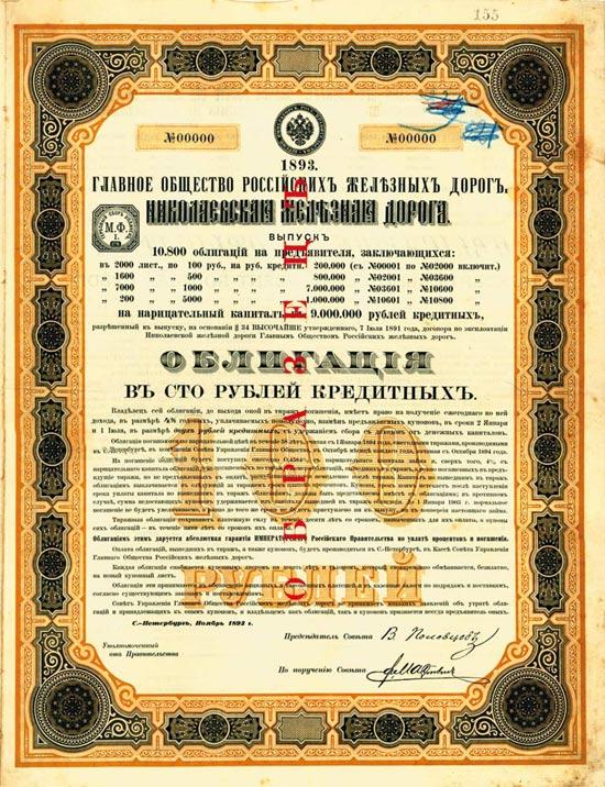 Grosse Russische Eisenbahn-Gesellschaft. Nicolai-Eisenbahn