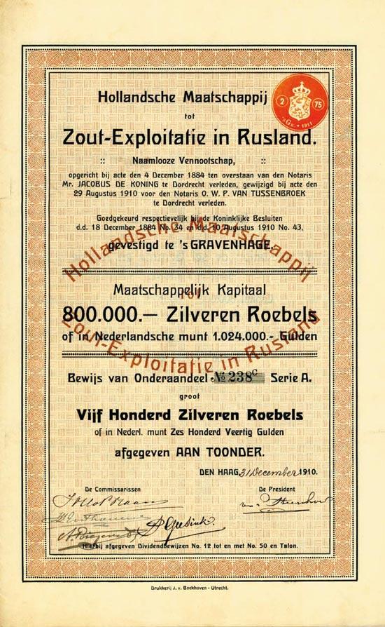 Hollandsche Maatschappij tot Zout-Exploitatie in Rusland