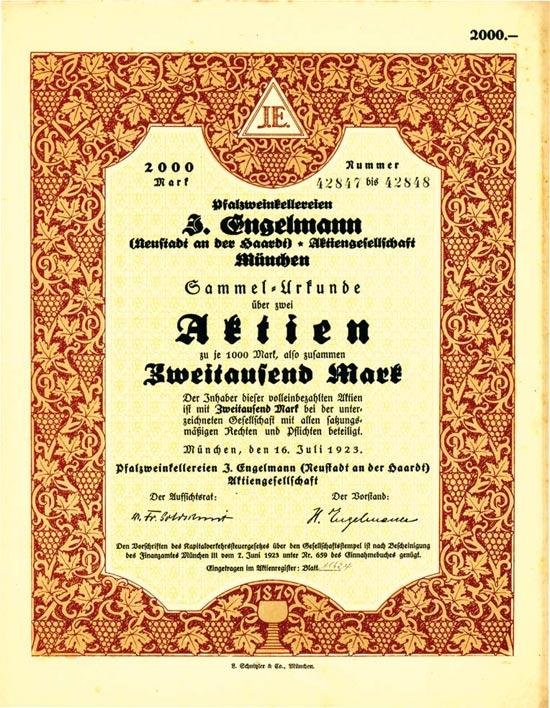 Pfalzweinkellereien J. Engelmann (Neustadt an der Haardt) AG