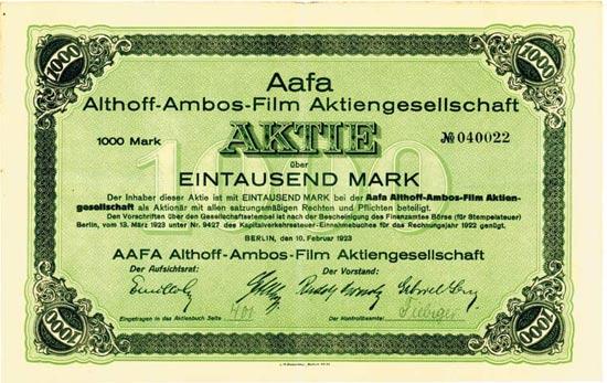 Aafa Althoff-Ambos-Film AG
