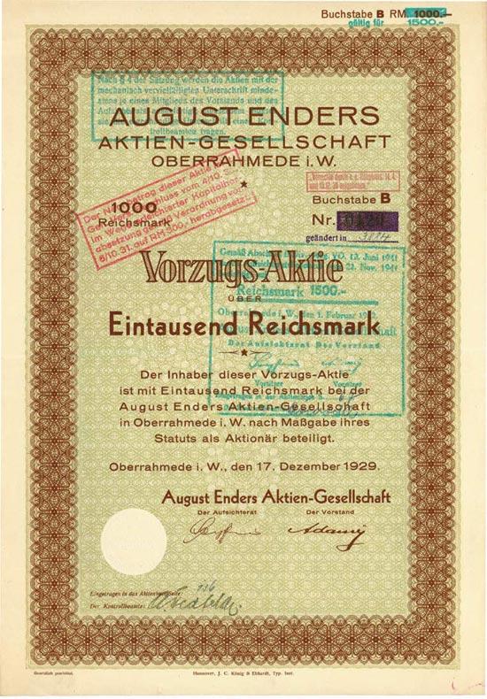 August Enders AG