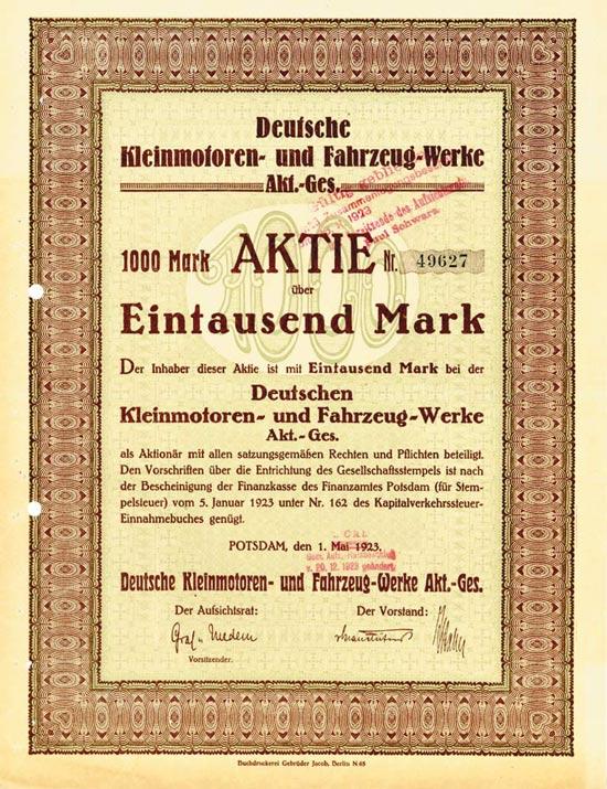 Deutsche Kleinmotoren- und Fahrzeug-Werke AG