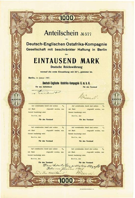 Deutsch-Englisch Ostafrikanische-Kompagnie GmbH