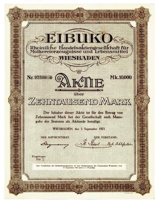 EIBUKO Rheinische Handelsaktiengesellschaft für Molkereierzeugnisse und Lebensmittel