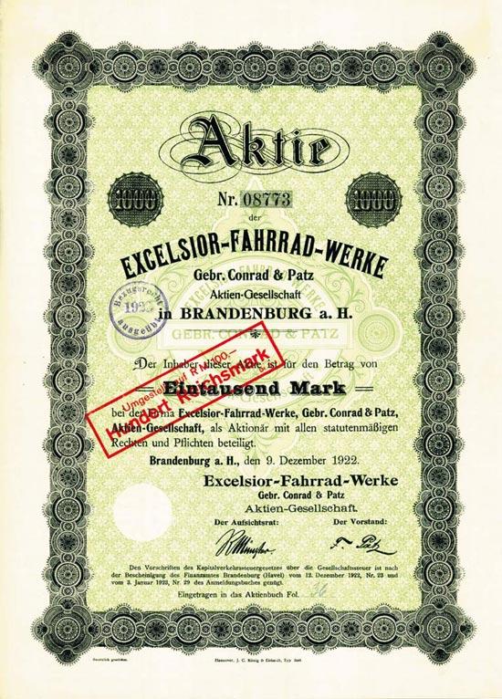 Excelsior Fahrrad-Werke Gebr. Conrad & Patz AG