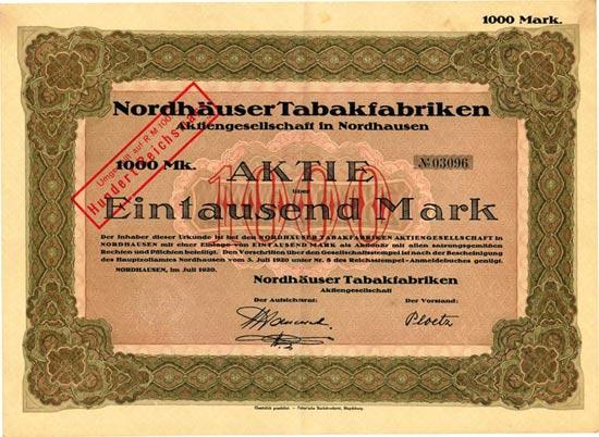 Nordhäuser Tabakfabriken AG