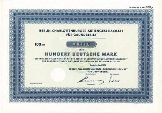 Berlin-Charlottenburger AG für Grundbesitz