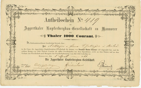 Aggerthaler Kupferbergbau-Gesellschaft