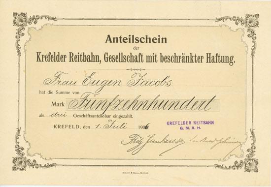 Krefelder Reitbahn, GmbH