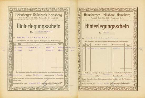 Heinsberger Volksbank [2 Stück]