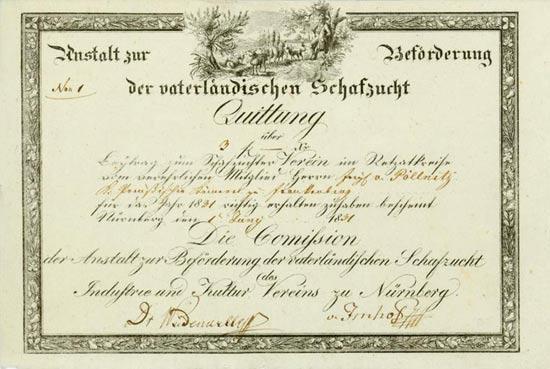 Industrie- und Kultur-Verein zu Nürnberg / Anstalt zur Beförderung der vaterländischen Schafzucht