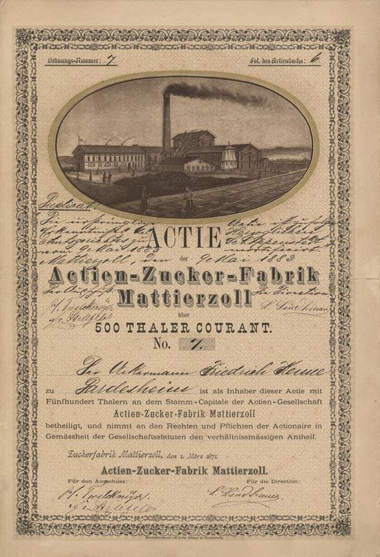Actien-Zucker-Fabrik Mattierzoll